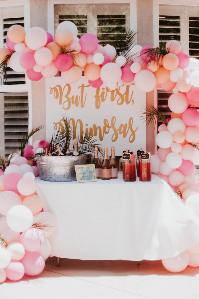 Mimosa Bar from a Vintage Tropical Baby Shower on Kara's Party Ideas | KarasPartyIdeas.com (27)