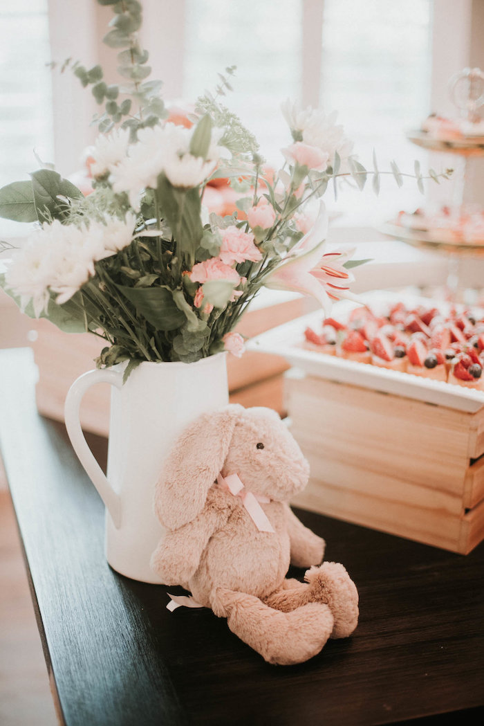 Plush Bunny & Blooms from a Vintage Tropical Baby Shower on Kara's Party Ideas | KarasPartyIdeas.com (18)