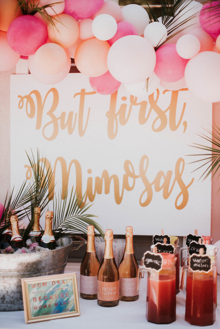 But First Mimosas - Mimosa Bar Print from a Vintage Tropical Baby Shower on Kara's Party Ideas | KarasPartyIdeas.com (30)