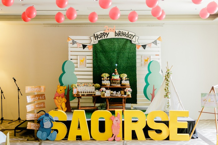Winnie the Pooh Hundred Acre Wood Birthday Party on Kara's Party Ideas | KarasPartyIdeas.com (16)