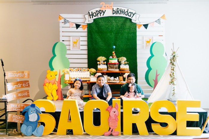 Winnie the Pooh Hundred Acre Wood Birthday Party on Kara's Party Ideas | KarasPartyIdeas.com (9)