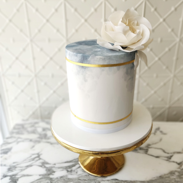 Blue Wash Cake from a 2019 Wedding Trends from Celebrity Experts on Kara's Party Ideas | KarasPartyIdeas.com (62)