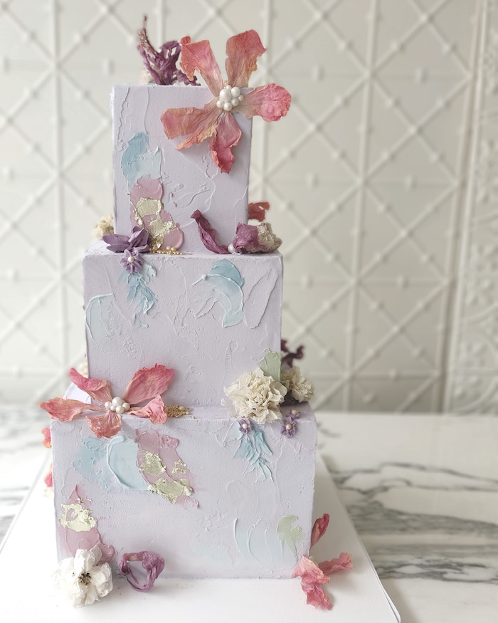 Painterfly Cake from a 2019 Wedding Trends from Celebrity Experts on Kara's Party Ideas | KarasPartyIdeas.com (60)
