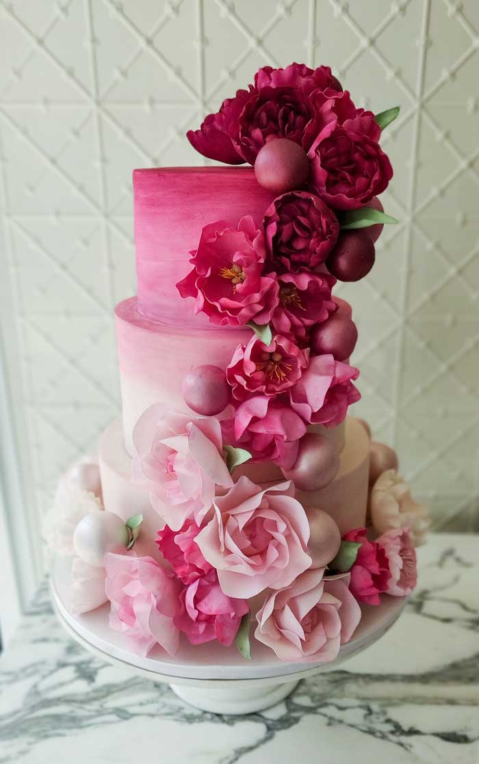 Wedding Cake from a 2019 Wedding Trends from Celebrity Experts on Kara's Party Ideas | KarasPartyIdeas.com (59)