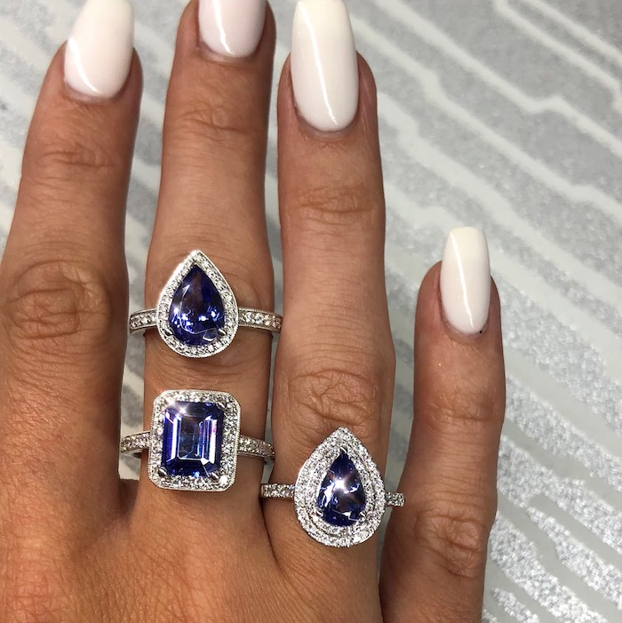 Sapphire Wedding Rings from a 2019 Wedding Trends from Celebrity Experts on Kara's Party Ideas | KarasPartyIdeas.com (20)
