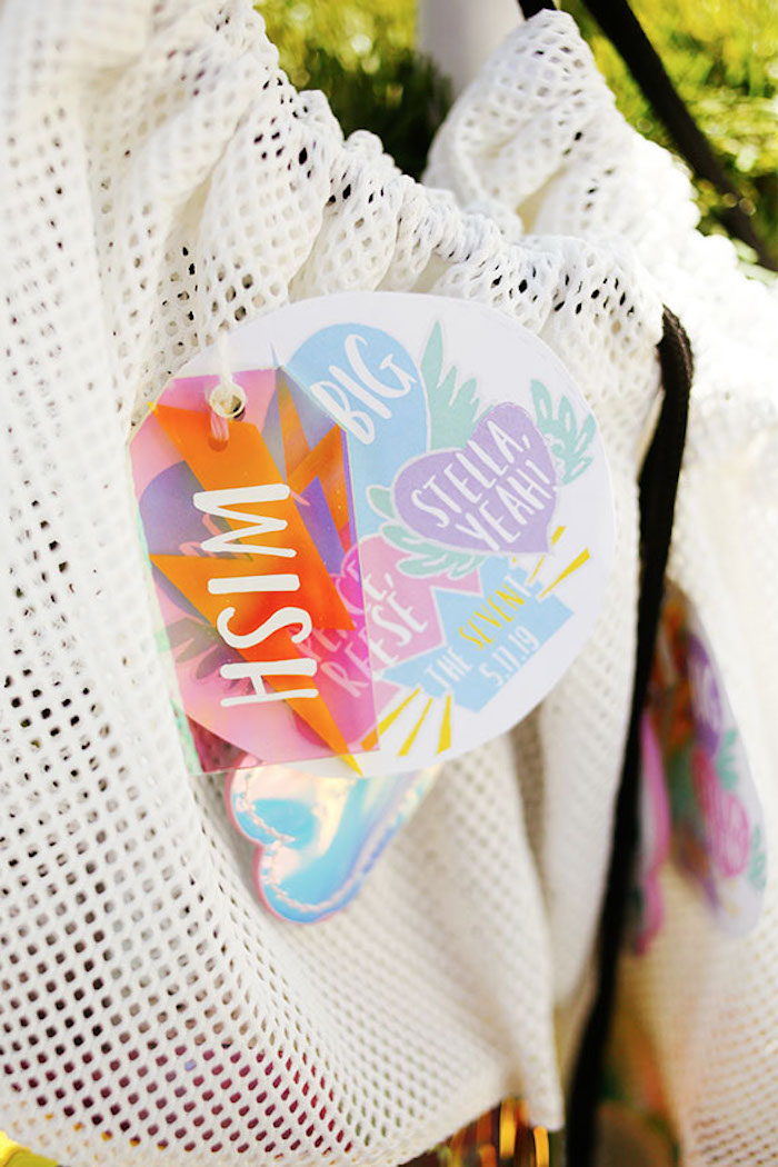 Custom Favor Sack Tags from a 7th Heaven Birthday Party on Kara's Party Ideas | KarasPartyIdeas.com (20)