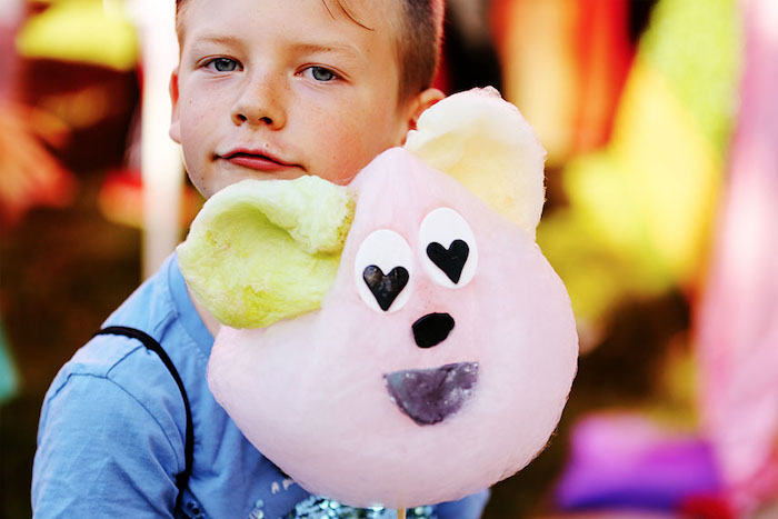 Cotton Candy Bear from a 7th Heaven Birthday Party on Kara's Party Ideas | KarasPartyIdeas.com (12)