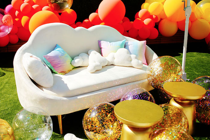 Cloud Sofa from a 7th Heaven Birthday Party on Kara's Party Ideas | KarasPartyIdeas.com (27)