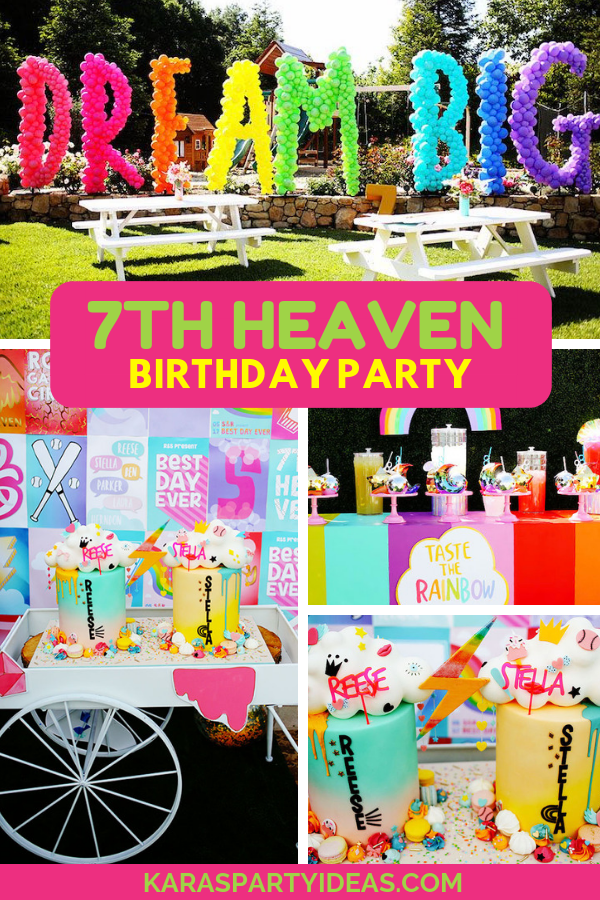 7th Heaven Birthday Party via Kara's Party Ideas - KarasPartyIdeas.com