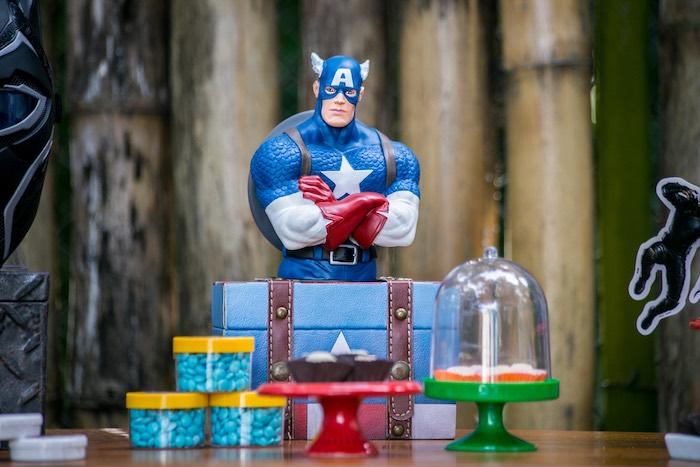 Captain America from an Avengers Superhero Party for Twins on Kara's Party Ideas   KarasPartyIdeas.com (15)