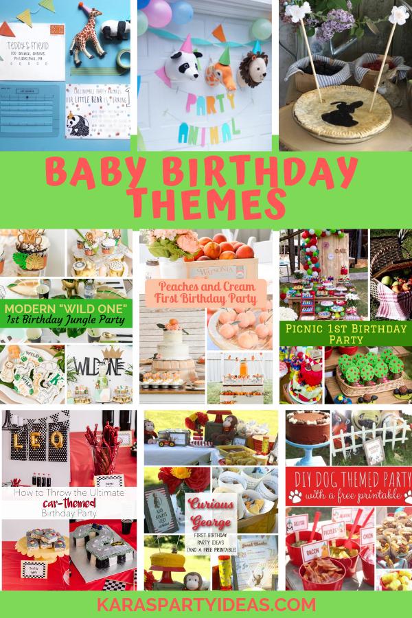 Baby Birthday Themes via Kara's Party Ideas - KarasPartyIdeas.com