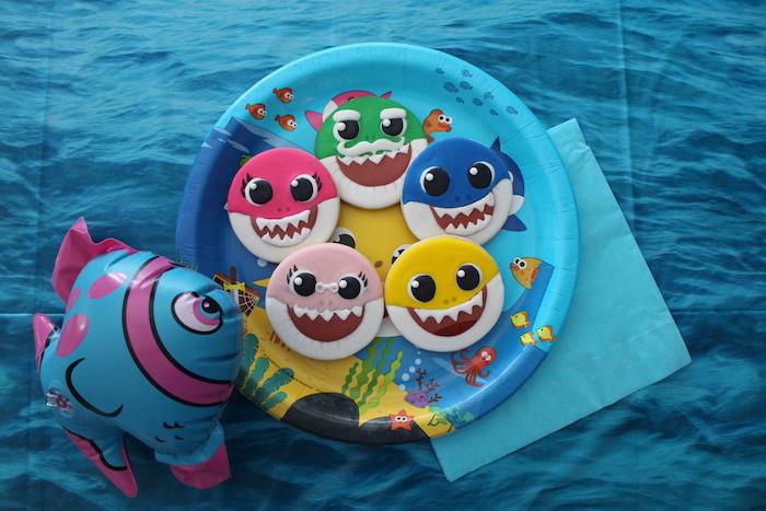 Baby Shark Sugar Cookies on Kara's Party Ideas | KarasPartyIdeas.com (10)
