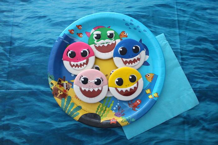Baby Shark Sugar Cookies on Kara's Party Ideas | KarasPartyIdeas.com (8)