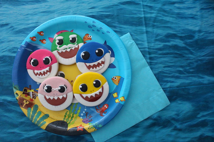 Baby Shark Sugar Cookies on Kara's Party Ideas | KarasPartyIdeas.com (7)