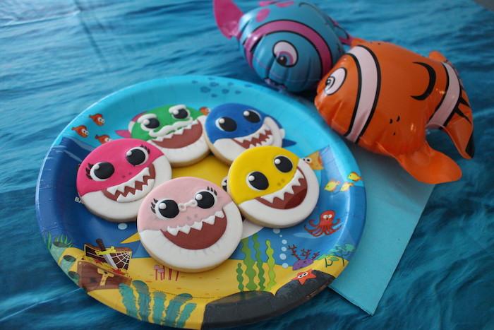 Baby Shark Sugar Cookies on Kara's Party Ideas | KarasPartyIdeas.com (6)
