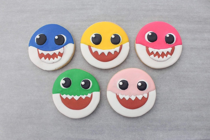 Baby Shark Sugar Cookies on Kara's Party Ideas | KarasPartyIdeas.com (14)