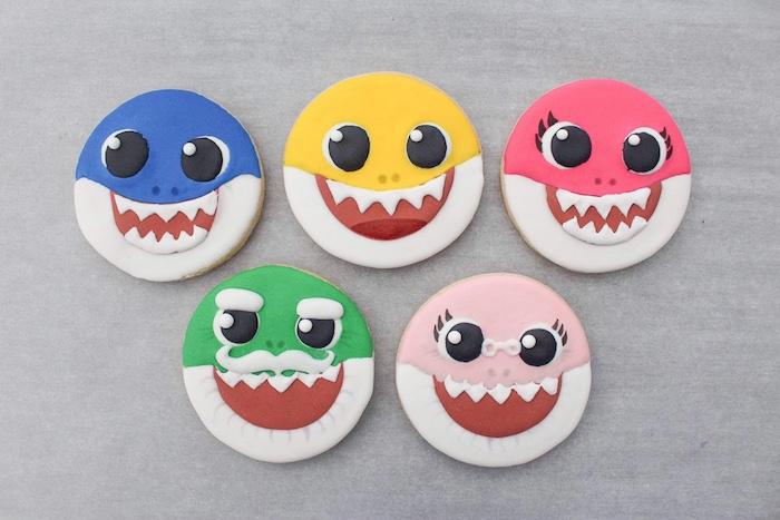 Baby Shark Sugar Cookies on Kara's Party Ideas | KarasPartyIdeas.com (13)