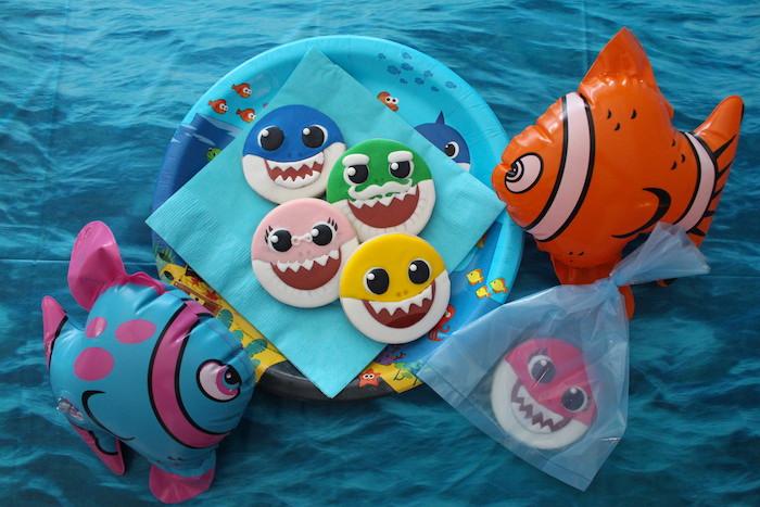 Baby Shark Sugar Cookies on Kara's Party Ideas | KarasPartyIdeas.com (12)