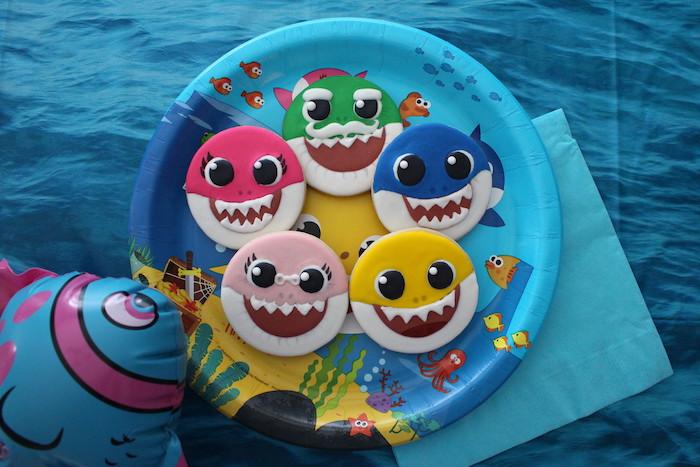 Baby Shark Sugar Cookies on Kara's Party Ideas | KarasPartyIdeas.com (11)