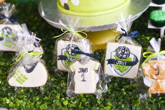 Soccer Themed Sugar Cookies from a Backyard Soccer Birthday Party on Kara's Party Ideas | KarasPartyIdeas.com (7)