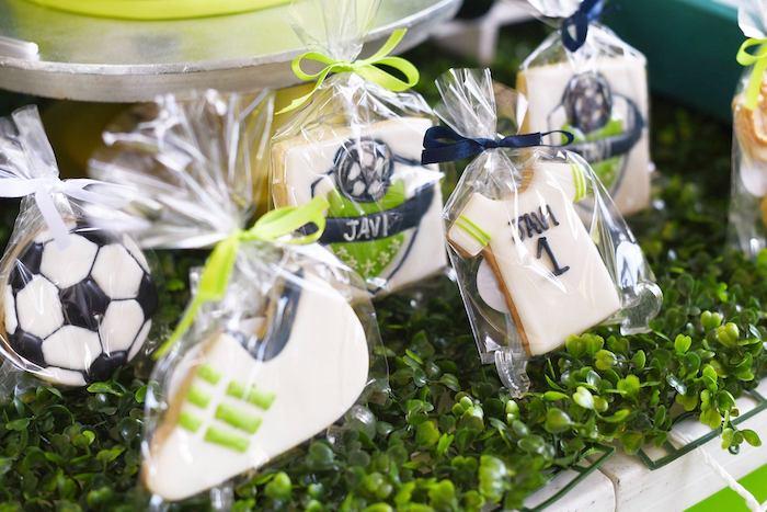 Soccer Themed Sugar Cookies from a Backyard Soccer Birthday Party on Kara's Party Ideas | KarasPartyIdeas.com (19)