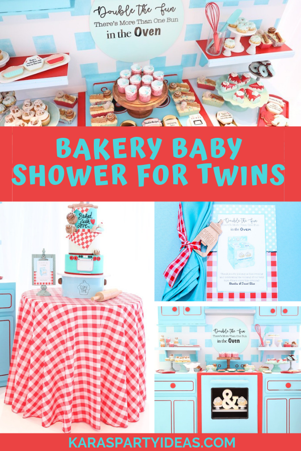 Bakery Baby Shower for Twins via Kara's Party Ideas - KarasPartyIdeas.com