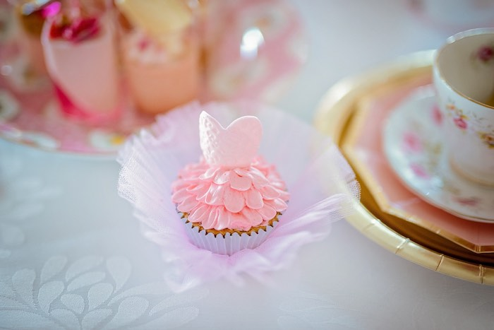 Ballerina Cupcake from a Ballerina Tea Party on Kara's Party Ideas | KarasPartyIdeas.com (37)