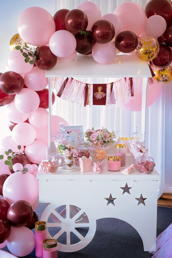 Ballet Themed Candy Buffet Cart from a Ballerina Tea Party on Kara's Party Ideas | KarasPartyIdeas.com (36)