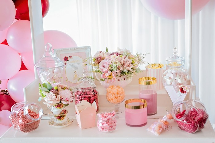 Ballet-inspired Candy Buffet + Bar from a Ballerina Tea Party on Kara's Party Ideas | KarasPartyIdeas.com (34)