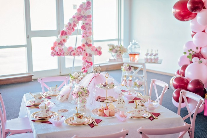 Tea Table from a Ballerina Tea Party on Kara's Party Ideas | KarasPartyIdeas.com (25)