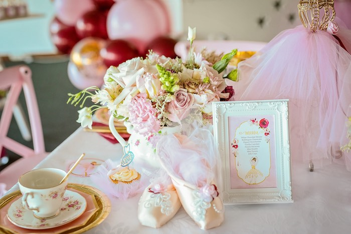 Ballet Slippers + Menu from a Ballerina Tea Party on Kara's Party Ideas | KarasPartyIdeas.com (20)