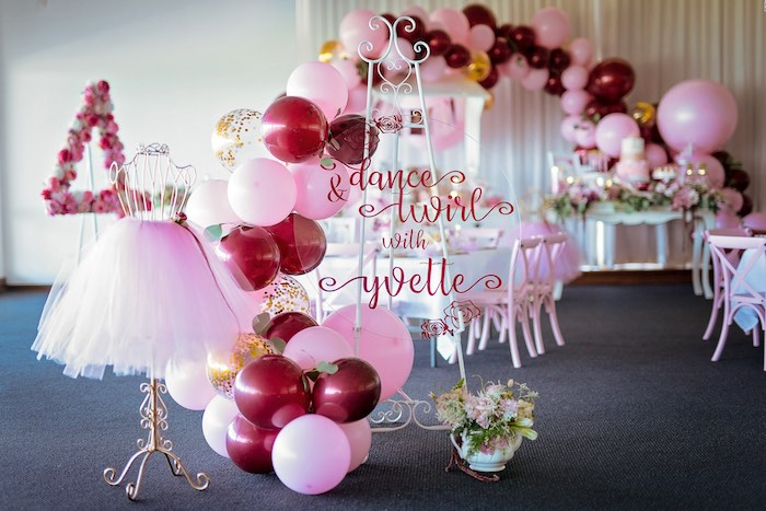 Acrylic Sign from a Ballerina Tea Party on Kara's Party Ideas | KarasPartyIdeas.com (47)