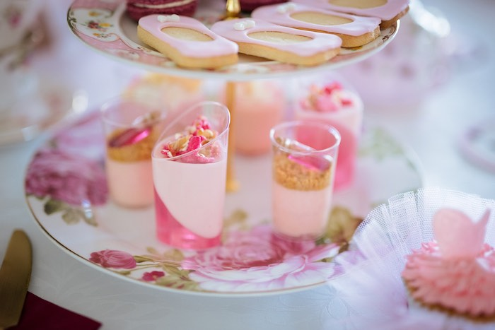 Pink Dessert Shooters from a Ballerina Tea Party on Kara's Party Ideas | KarasPartyIdeas.com (18)