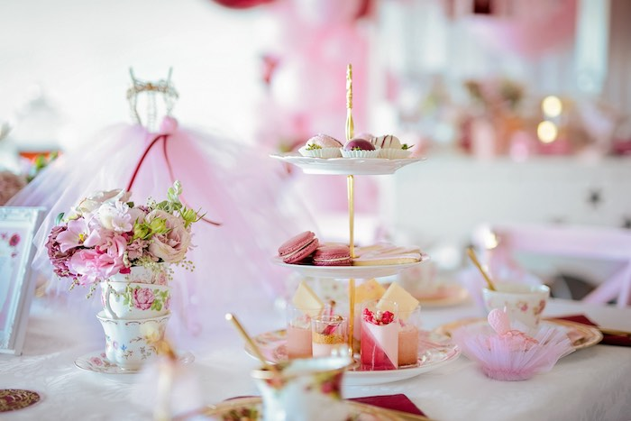 Tea Table + Sweets from a Ballerina Tea Party on Kara's Party Ideas | KarasPartyIdeas.com (17)