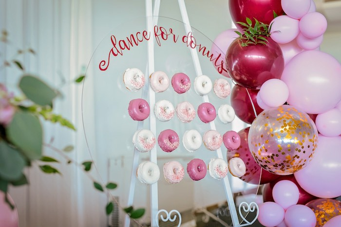 Acrylic Donut Board from a Ballerina Tea Party on Kara's Party Ideas | KarasPartyIdeas.com (10)