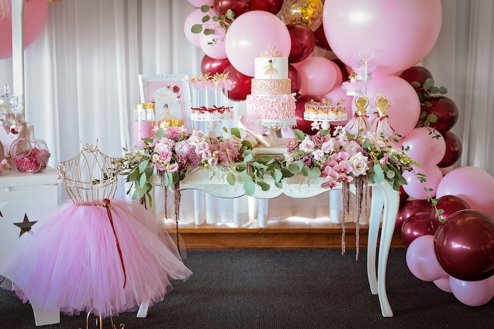 Ballerina Themed Dessert Table from a Ballerina Tea Party on Kara's Party Ideas | KarasPartyIdeas.com (46)