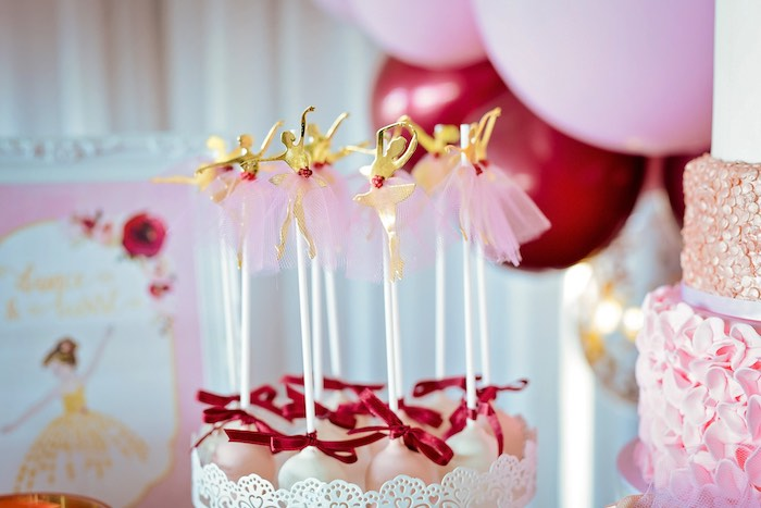 Ballerina Cake Pops from a Ballerina Tea Party on Kara's Party Ideas | KarasPartyIdeas.com (42)