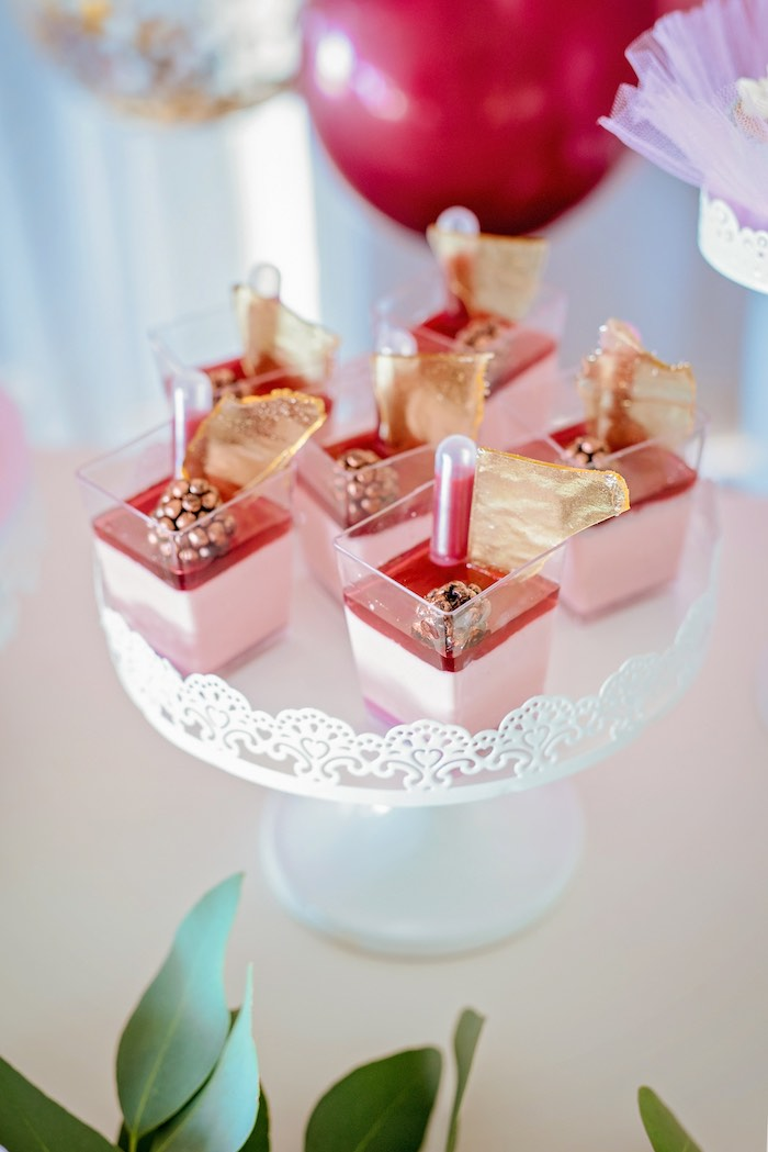 Dessert Cups from a Ballerina Tea Party on Kara's Party Ideas | KarasPartyIdeas.com (40)
