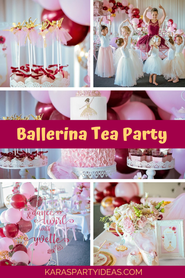 Ballerina Tea Party via Kara's Party Ideas - KarasPartyIdeas.com