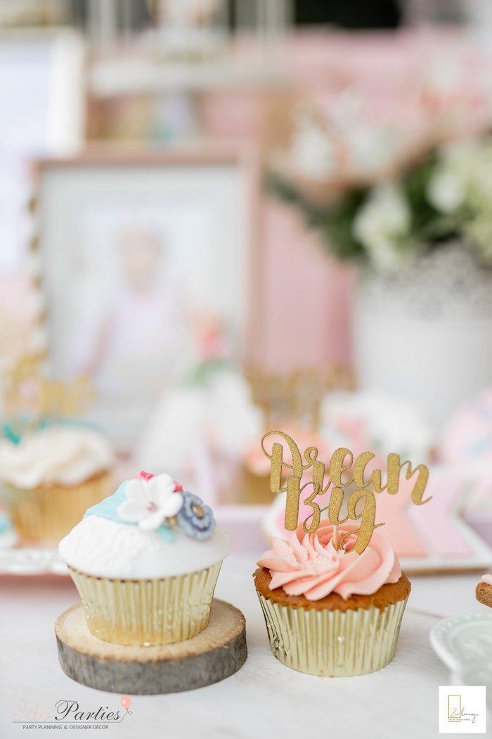 Boho Cupcakes from a Boho Chic Birthday Party on Kara's Party Ideas | KarasPartyIdeas.com (24)