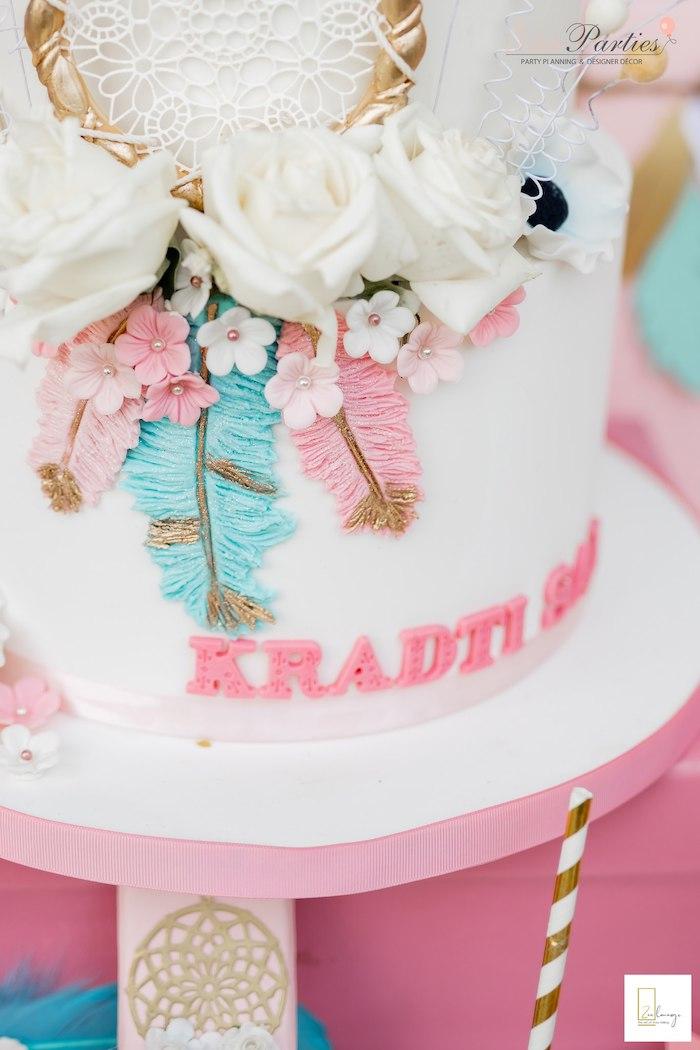Boho Cake from a Boho Chic Birthday Party on Kara's Party Ideas | KarasPartyIdeas.com (23)