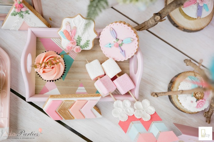 Boho Themed Desserts from a Boho Chic Birthday Party on Kara's Party Ideas | KarasPartyIdeas.com (21)
