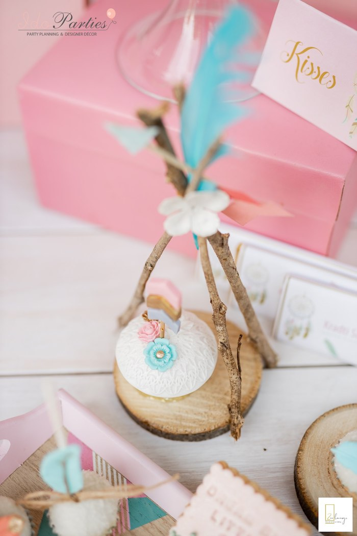 Boho Cupcake from a Boho Chic Birthday Party on Kara's Party Ideas | KarasPartyIdeas.com (19)