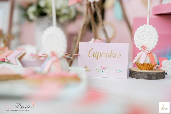 Boho Themed Cupcake Label from a Boho Chic Birthday Party on Kara's Party Ideas | KarasPartyIdeas.com (14)