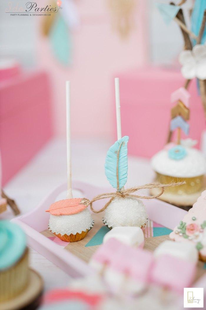 Boho Cake Pops from a Boho Chic Birthday Party on Kara's Party Ideas | KarasPartyIdeas.com (11)