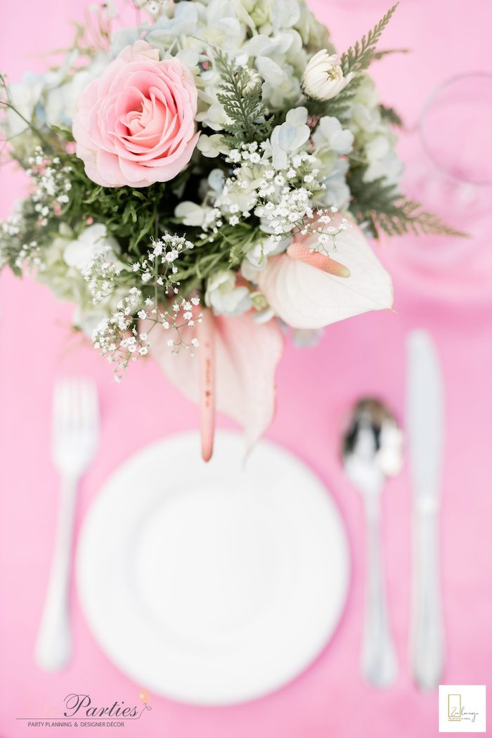 Floral Centerpiece from a Boho Chic Birthday Party on Kara's Party Ideas | KarasPartyIdeas.com (10)