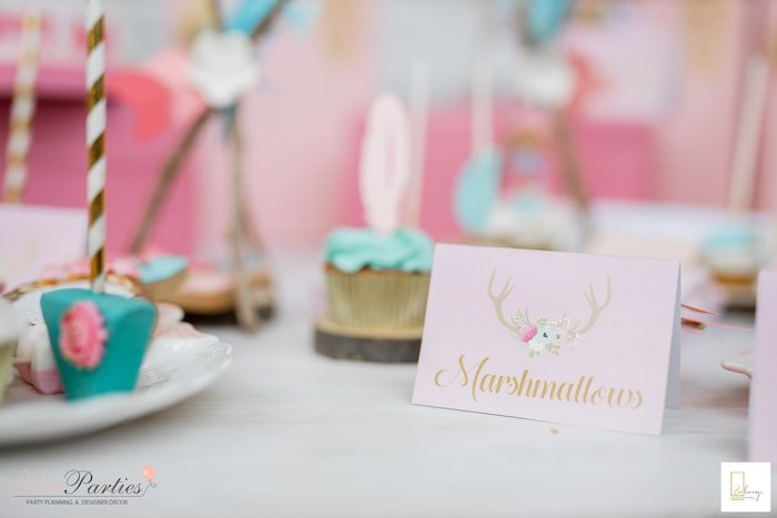Boho Themed Dessert Label from a Boho Chic Birthday Party on Kara's Party Ideas | KarasPartyIdeas.com (7)