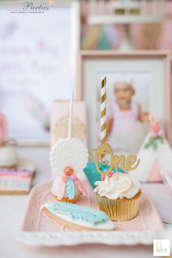 Boho Themed Sweets from a Boho Chic Birthday Party on Kara's Party Ideas | KarasPartyIdeas.com (6)
