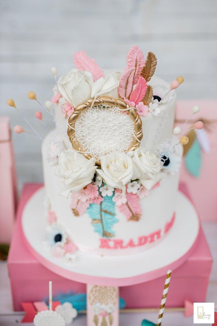 Boho Cake from a Boho Chic Birthday Party on Kara's Party Ideas | KarasPartyIdeas.com (33)