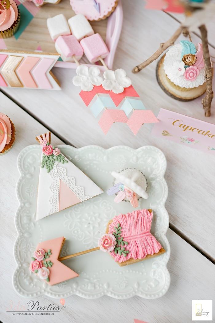 Boho Cookies from a Boho Chic Birthday Party on Kara's Party Ideas | KarasPartyIdeas.com (30)